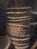 Pilas de cestas de lámina a partir del siglo XIX fotografía de archivo libre de regalías