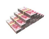 Pilas de chino Yuan Banknotes imagenes de archivo