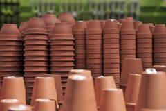 Pilas de crisoles de flor Imagen de archivo