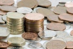 Pilas de dinero Imagen de archivo