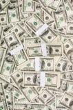 Pilas de dinero Fotos de archivo