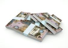 Pilas de dinero de Jordania aisladas en el fondo blanco Fotos de archivo libres de regalías