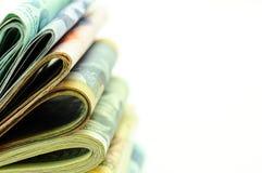Pilas de dinero - macro Imagen de archivo libre de regalías
