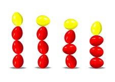 Pilas de huevos de Pascua Imagen de archivo libre de regalías