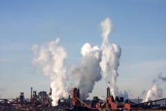 Pilas de humo Imágenes de archivo libres de regalías
