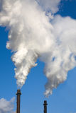 Pilas de humo Fotografía de archivo libre de regalías