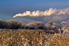, Pilas de humo Foto de archivo