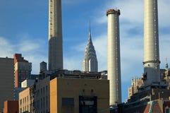 Pilas de humo NYC Imagen de archivo libre de regalías