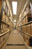 Pilas de la biblioteca Imagen de archivo libre de regalías