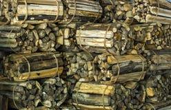 Pilas de la leña de pila de madera del fuego Foto de archivo