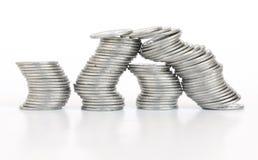 Pilas de la moneda imagenes de archivo