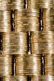 Pilas de la moneda Fotografía de archivo libre de regalías
