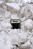 Pilas de la nieve Imagen de archivo