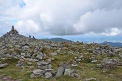 Pilas de la roca en tatras bajos Imagen de archivo