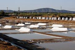 Pilas de la sal Imagen de archivo libre de regalías