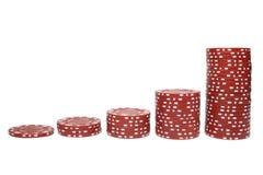 Pilas de la viruta de póker Imagen de archivo