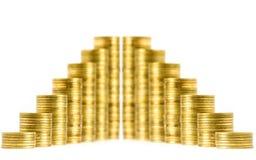 Pilas de las monedas Foto de archivo