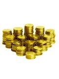 Pilas de las monedas Imagen de archivo libre de regalías