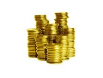 Pilas de las monedas Fotografía de archivo libre de regalías
