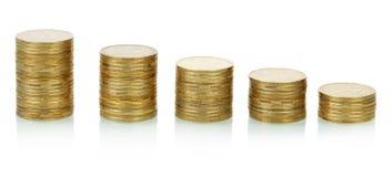 Pilas de las monedas Fotografía de archivo