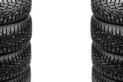 Pilas de los neumáticos del invierno Fotos de archivo