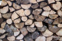 Pilas de los registros de madera Imagen de archivo libre de regalías