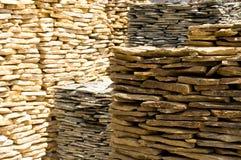 Pilas de losas de la roca Imagen de archivo