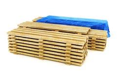 Pilas de madera de construcción de madera del edificio Foto de archivo