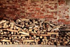 Pilas de madera del fuego - concepto de la energía Imagen de archivo libre de regalías