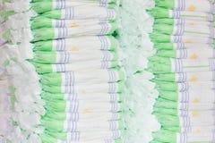 Pilas de pañales Imagen de archivo