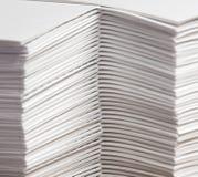 Pilas de papel compaginado fotografía de archivo libre de regalías