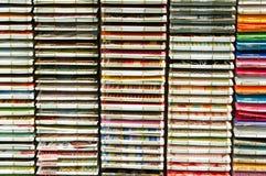 Pilas de papel en la visualización Fotografía de archivo