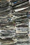 Pilas de periódico Fotos de archivo