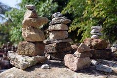 Pilas de piedras Foto de archivo libre de regalías