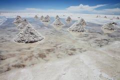 Pilas de sal foto de archivo