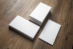 Pilas de tarjetas de visita Fotografía de archivo libre de regalías
