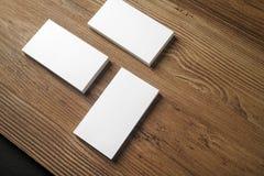 Pilas de tarjetas de visita en blanco Fotografía de archivo