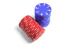 Pilas de virutas de póker Foto de archivo
