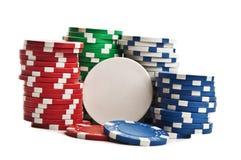 Pilas de virutas de póker Imagenes de archivo