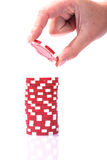 Pilas de virutas de póker Imagen de archivo