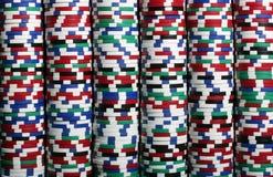 Pilas de virutas del casino Imagen de archivo