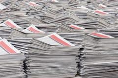 Pilas de Warehouse de periódicos Imagen de archivo libre de regalías