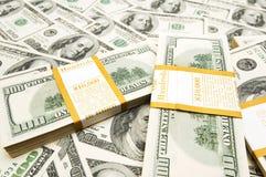 Pilas del dólar de los diez milésimos Imágenes de archivo libres de regalías