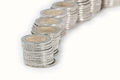 Pilas del dinero Fotos de archivo libres de regalías