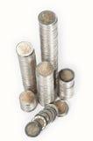 Pilas del dinero Imagenes de archivo
