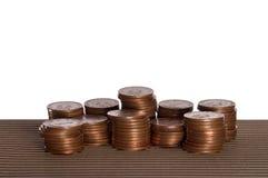 Pilas del dinero Fotografía de archivo