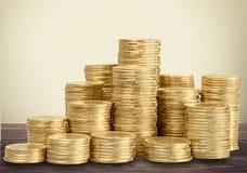 Pilas del dinero Fotografía de archivo libre de regalías
