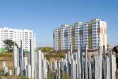 Pilas del edificio Imagen de archivo