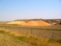 Pilas del grano Imagen de archivo libre de regalías