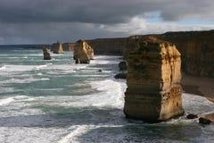 Pilas del mar imagen de archivo